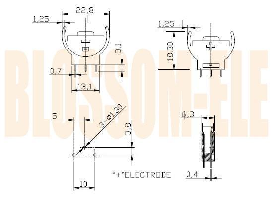 鈕扣電池座(CR2032-5) 2