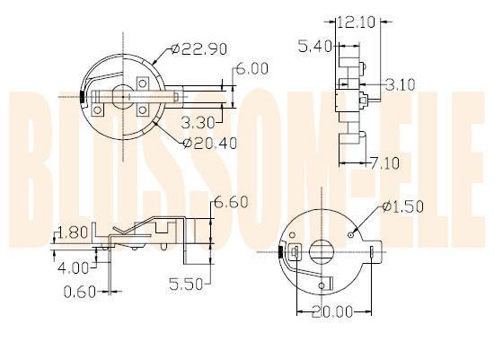 鈕扣電池座(CR2032-3) 2
