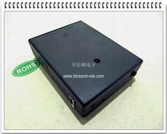 四节五号带USB接口电池盒DC6V