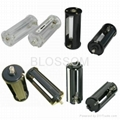 Flashlight battery holders