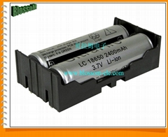 Battery Holder for Li-ion 2X18650 Size Battery