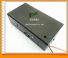 三節一號帶蓋帶開關安全電池盒