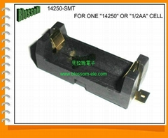 1/2AA or 14250 Battery Holder with SMT
