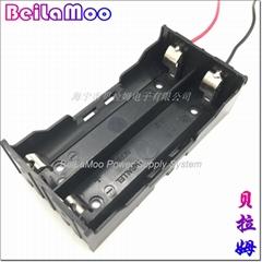 18650雙節串聯帶線電池座