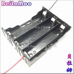 18650三節串聯帶線電池座