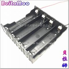 18650四節串聯帶線電池座