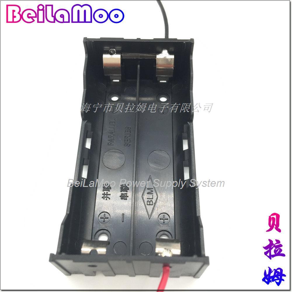 18650双节并联带线电池座 3