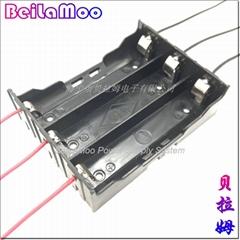 18650三節DIY帶線電池座