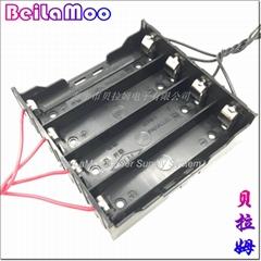 18650四節DIY帶線電池座