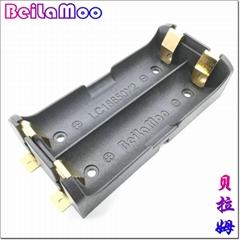 貼片式LC18650鋰電池盒雙節