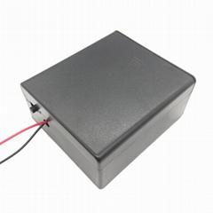 二節一號帶蓋帶開關電池盒