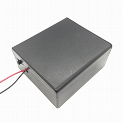 二节一号带盖带开关电池盒