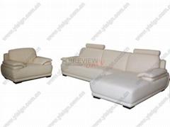 真皮现代沙发