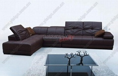leather functional sofa