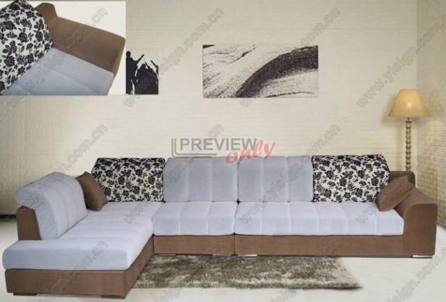 现代休闲布艺沙发 1