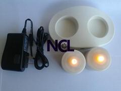 Wireless charging gravity sensor waterproof 0.1W LED Candle Light