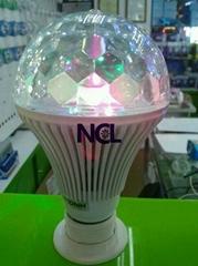 聲控-LED舞臺球泡燈6W(七彩旋轉)