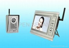 7 inch colour TFT LCD video door phone