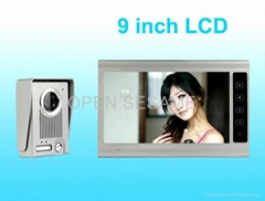 9 inch colour TFT LCD video door phone