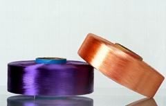 涤纶有色扁平丝涤纶扁平色丝