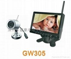 2.4G无线传输彩色婴儿监视器