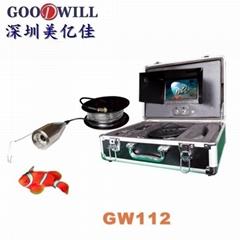 休闲垂钓用品彩色水下监控钓鱼器套装带DVR录像功能