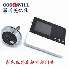 "2.8"" visual electronic cat eye monitor door monitoring"