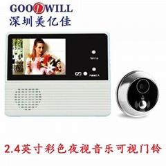 """Digital Security Door Viewer ---2.4""""LCD DOOR VIEWER"""