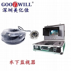 Full HD color portable video underwater fishing device monitor