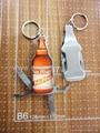 Beer Bottle shape multi opener knives