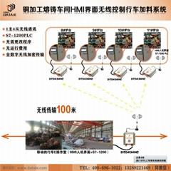 銅加工熔鑄車間HMI界面無線控制行車加料系統