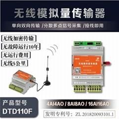 工業場合用 plc無線數據採集 8路信號傳到DCS系統 1收多發