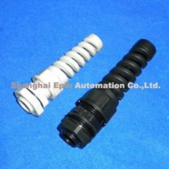 EPIN Nylon cable gland with anti-kink nozzle