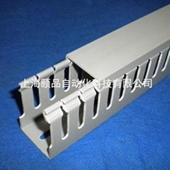 EPIN灰色開口齒型PVC行線槽