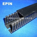 EPIN黑色开口齿形PVC行线槽 4