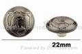Zinc alloy jean button