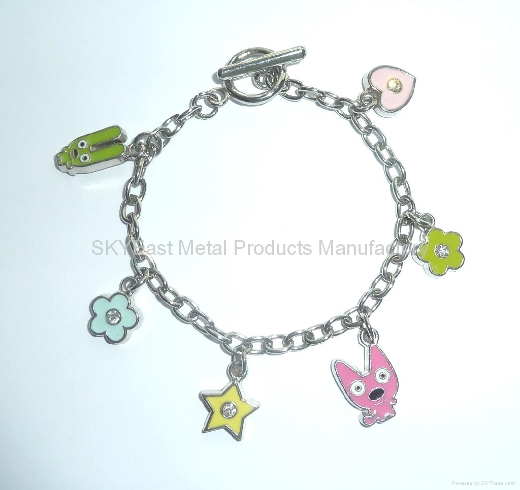 Metal Bracelet Chain with Decals 1