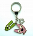 Metal Key Ring with Charms for Gift