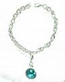 Fashion Metal Bracelet w/Letter Decals