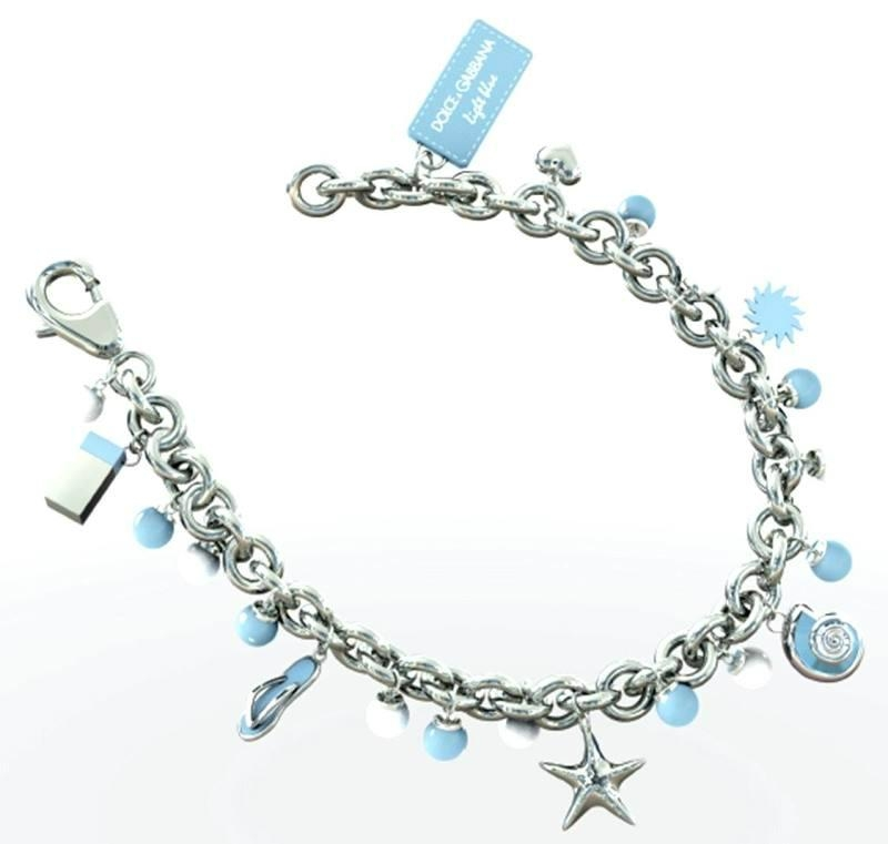 Metal Bracelet With Shiny Charms and Logo 2