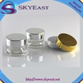 High Glossy Silver and Gold Oxidation Aluminum Lids with Screw PP Inner