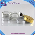 Glossy Gold or Silver Oxidation Aluminium Lids with Screw PP Inner for Jars