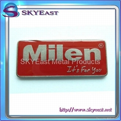 Metal Label Plate with Epoxy