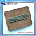 Distressed Color Metal Label With