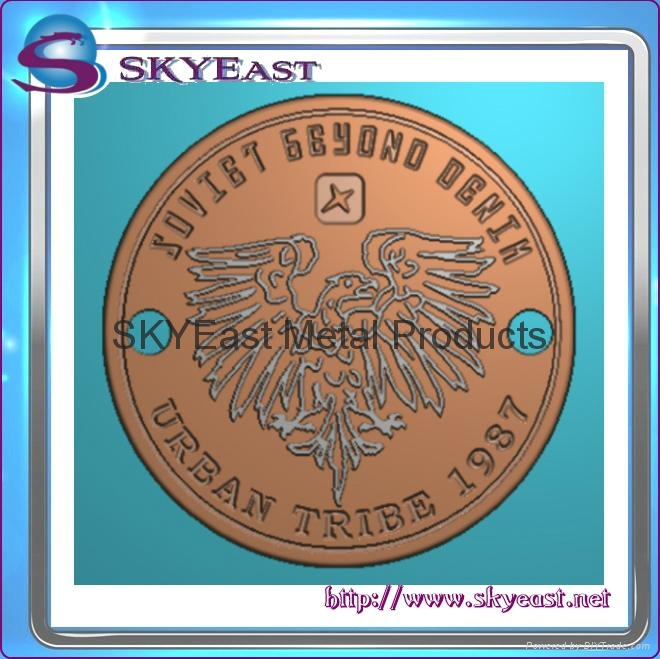 Relief Or Engraved Metal Eagle Logo 2