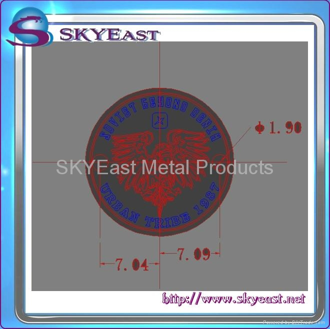 Relief Or Engraved Metal Eagle Logo 6