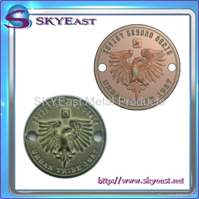 Relief Or Engraved Metal Eagle Logo 7