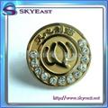 水晶石合金襟章