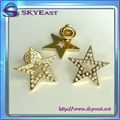 Star Shape Metal Badge With Rhinestones