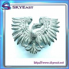 3D Raised Metal Eagle Badge
